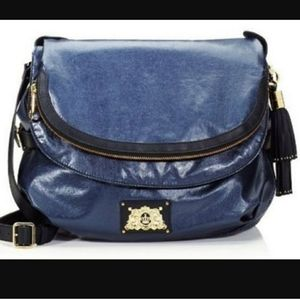 Juicy Couture Shimmer Nylon Navy Bag